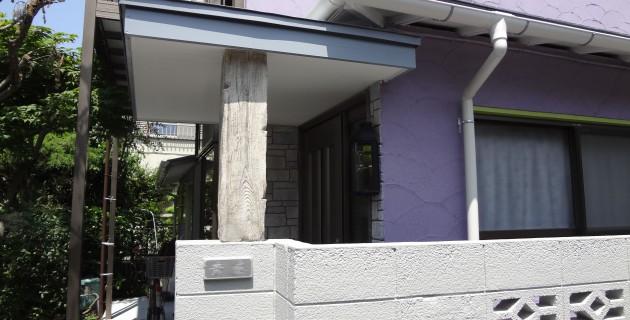 昭島市 S様邸 塗装工事とモルタル造形