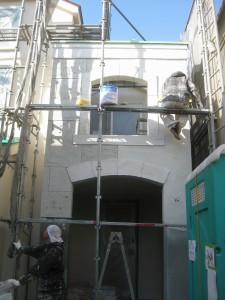 練馬区 S様邸新築住宅ファザード、石積み調仕上げ