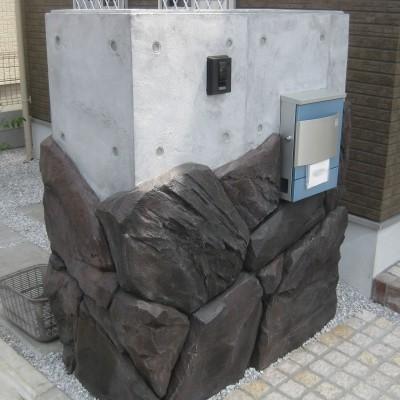 昭島市 T工務店様 外構モルタル造形工事