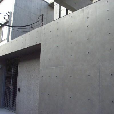 コンクリート打ちっ放しのエイジング塗装工事