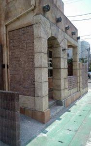 2017-08_海老名市_スペイン風建物_エージング塗装_モルタル造形